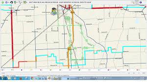 Bus Route Map by Milan Area Schools U2022 Milan Michigan