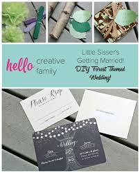 sle wedding invitation creating a diy forest themed wedding for sisser s special