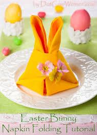 easter napkins easter bunny napkin folding tutorial dot women