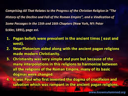 the effect of paganism on christianity