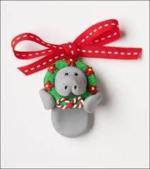 manatee n ornament wreath miniature new porcelain