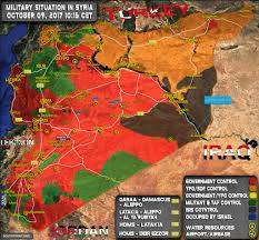 Isw Blog September 2015 by Military Situation In Syria On October 9 2017 Map Update