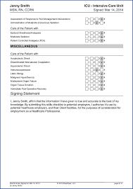 Nursing Skills List Resume Sample Travel Nursing Skills Checklist Free Bluepipes Blog