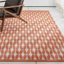 Crate And Barrel Outdoor Rug Aldo Mandarin Orange Outdoor Rug Crate And Barrel