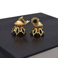 buy jhumka earrings online buy kerala traditional nagapadam jhumka earrings online kollam supreme