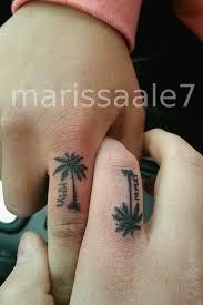 9 palm tree finger tattoos