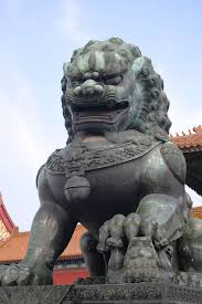 lion dog statue our new foo dogs are here here s a background