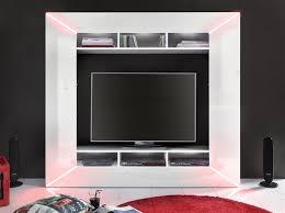 Wohnzimmerschrank Beleuchtung Mediawand Wohnwand Finley Hochglanz Weiss Inkl Led