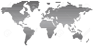 Black And White World Map Simple Abstract World Map Black And White Stock Photo Picture And