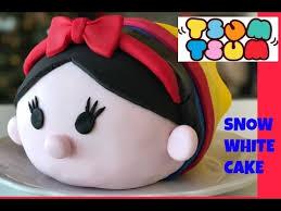 how to make snow white tsum tsum cake diy youtube