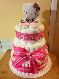 reduced pictured kitty diaper cake pink teal