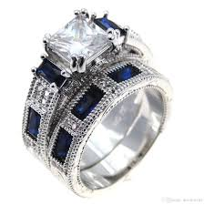 white zircon rings images Fashion jewelry blue and white zircon blue and white zircon stone jpg