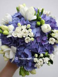 hydrangea wedding bouquet blue hydrangea wedding flowers stunning and