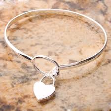 heart silver bangle bracelet images 27 best beautiful silver bangle bracelet eternity jewelry jpg