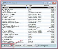 Quickbooks Chart Of Accounts Excel Template Bookkeeping The Ledger Page 2