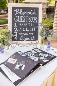 bridal shower sign in book purple and green organic fairytale wedding guestbook polaroid