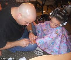 boys who wear long hair and nails the military man who loves helping his daughter paint her nails