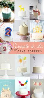 12 simple chic diy cake toppers diy s home inspiration