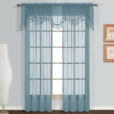 furniture extra long curtains with blue curtain and white wall