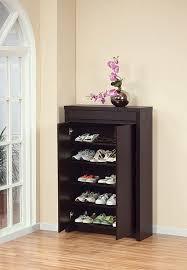 shoe storage organizer cabinet with doors comqt