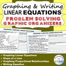 graphing u0026 writing linear equations word problems with graphic