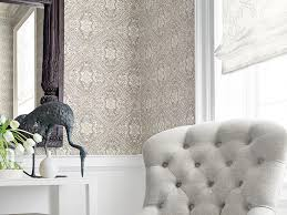 Block Print Wallpaper On The Wall U2014 How To Decorate With Wallpaper