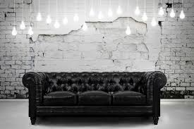 White Leather Chesterfield Chair Zahara Leather Sofa By Tov Furniture Buy Online At Best Price