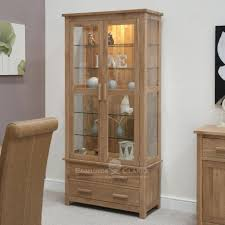 Curio Cabinet With Glass Doors Lighted Curio Cabinet Glass Curio Cabinet Wall Mounted Display