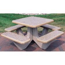 Picnic Table Frame Square Concrete Picnic Table Square Concrete Picnic Table