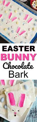 easter bunny candy easter bunny bark easy to make and chocolatey delicious