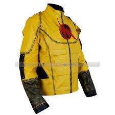 superhero reverse flash leather jacket costume for sale