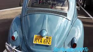 blue volkswagen beetle vintage vw bug 1959 type1 ragtop classic youtube