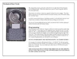 intermatic light timer manual time clocks for tou carbon power light inc