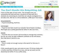 Job Description Nanny If My Babysitting Ad Were Honest U2026