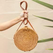 atta reina cross body round straw bag big rattan bag u2013 brunnaco