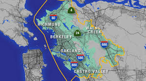 Map Of Bay Area East Bay Mud Customers May Experience Bad Smell Taste In Their