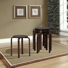 linon home decor 17 72 in dark brown wood bar stool set of 4