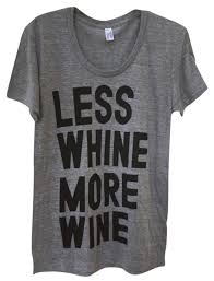 heather gray black graphic less whine more wine t shirt whimsical