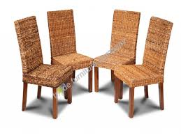 set of 4 dining room chairs furniture wicker dining room chairs new set of 4 rattan dining