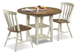 fresco 3 piece dinette set driftwood cream leon u0027s