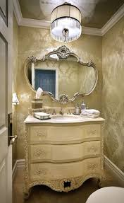 French Powder Room Powder Room Chandelier Home Design Ideas