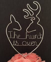 buck and doe cake topper the hunt is cake topper touch of heart