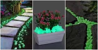 glow in the pebbles creative ideas glow in the pebbles for walkway