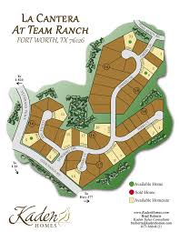 Fort Worth Map Map Of La Cantera At Team Ranch New Homes In Fort Worth Tx