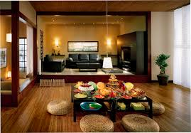 excellent japanese living room design with elegant detail and
