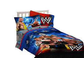 Wrestling Ring Bed by Amazon Com Wwe Wrestling Champions Twin Sheet Set Home U0026 Kitchen