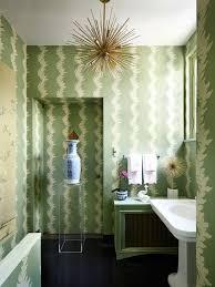 Striped Wallpaper Bathroom Well Designed Green Powder Room U0026 Lounge Wallpaper Interiors