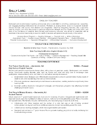 Job Resume Samples For Teachers by 13 Sample Resume For Teaching Job Sendletters Info