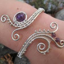 silver wire bangle bracelet images Best spiral wire for bracelets products on wanelo jpg