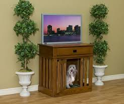 entertainment center wooden dog crate dog puppy crate by amish